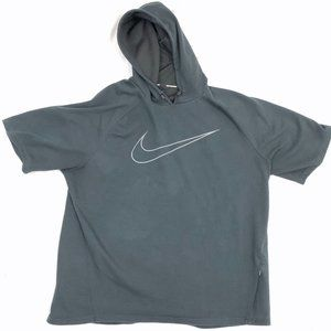 NIKE Running City Run Short Sleeve Hoodie Black